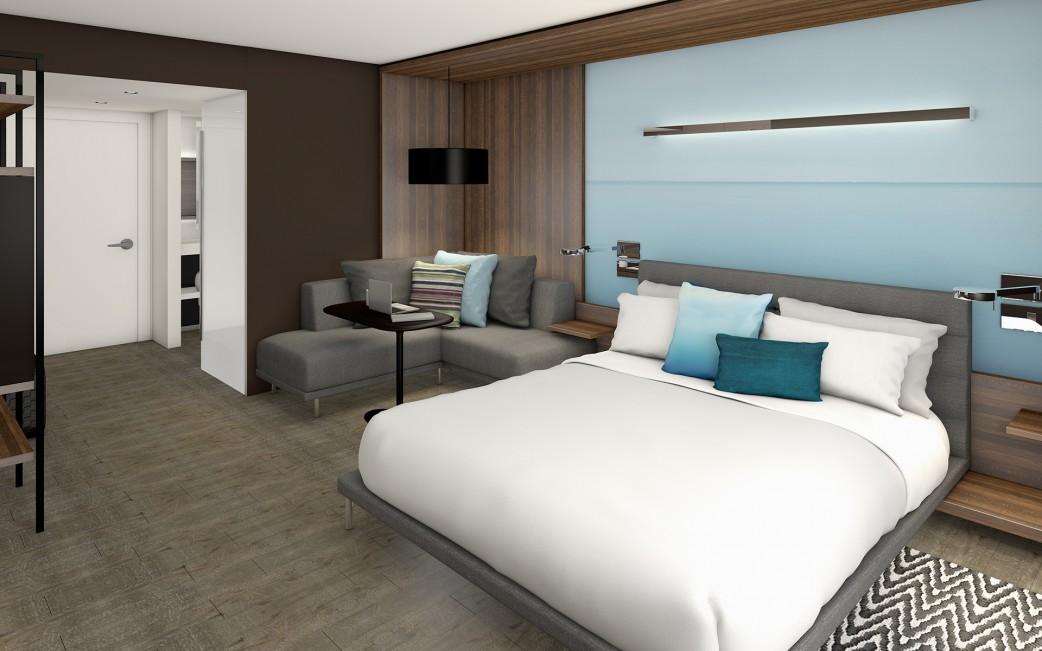 Marriott King Room L-Sofa-Bed Perspective